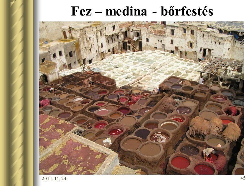 Fez – medina - bőrfestés