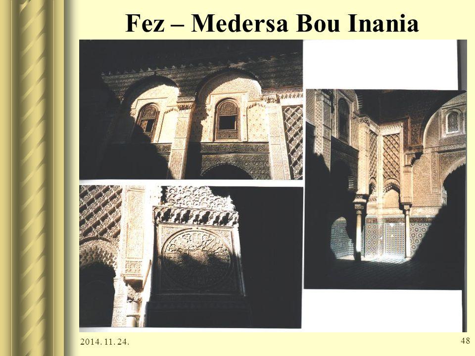 Fez – Medersa Bou Inania