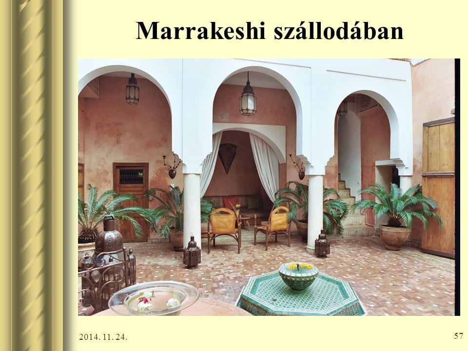 Marrakeshi szállodában