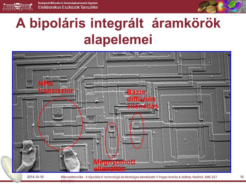 A bipoláris integrált áramkörök alapelemei