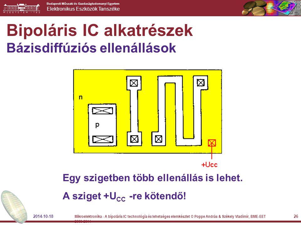 Bipoláris IC alkatrészek Bázisdiffúziós ellenállások