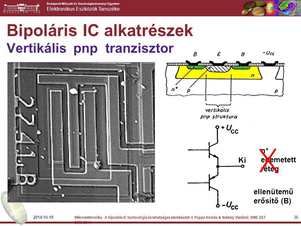 Bipoláris IC alkatrészek Vertikális pnp tranzisztor