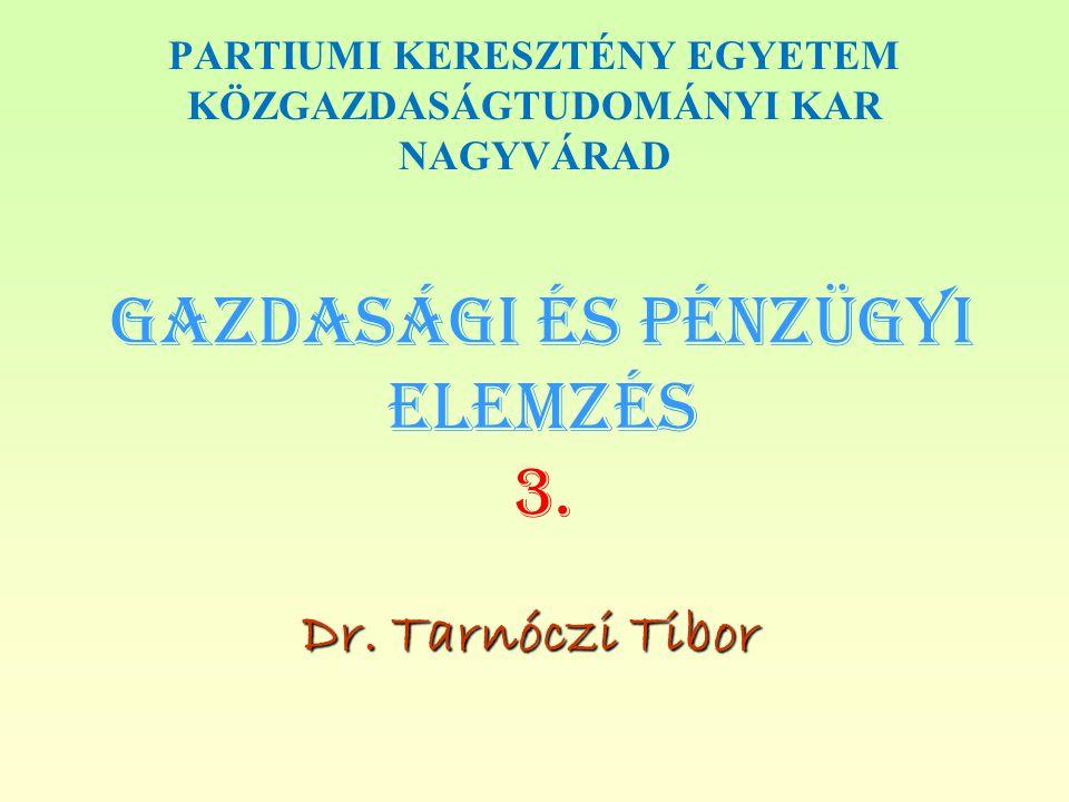 Gazdasági és PÉNZÜGYI Elemzés 3.
