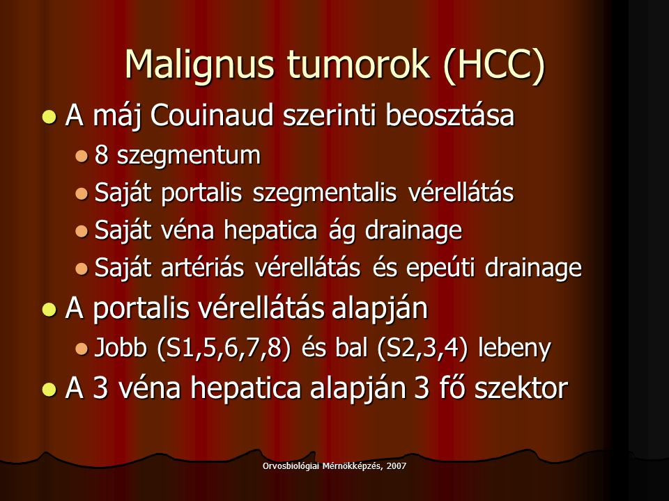 Malignus tumorok (HCC)