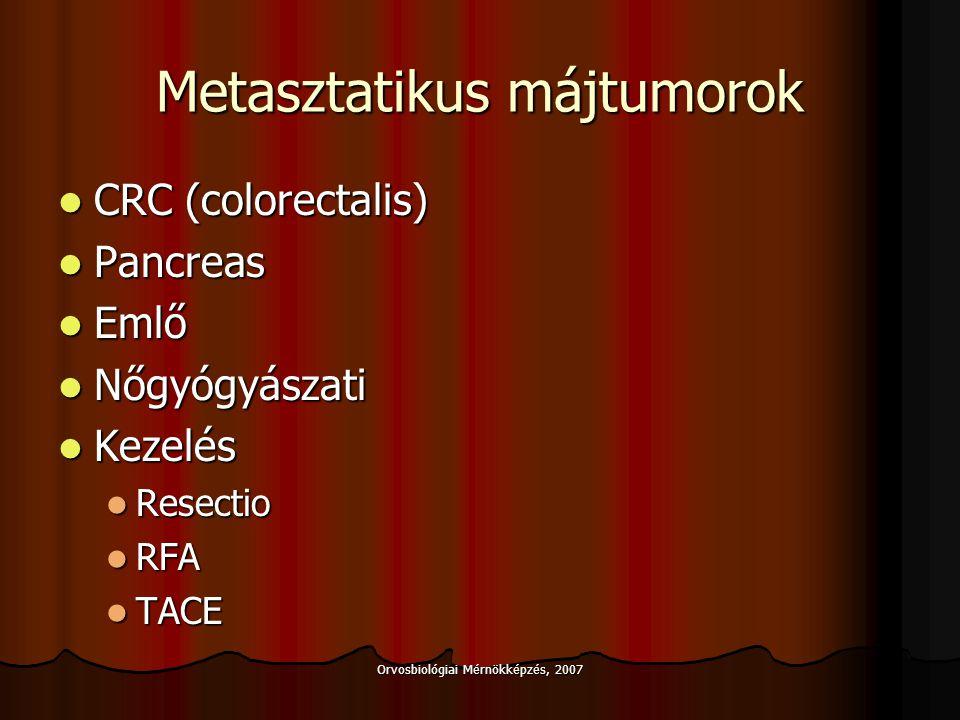 Metasztatikus májtumorok