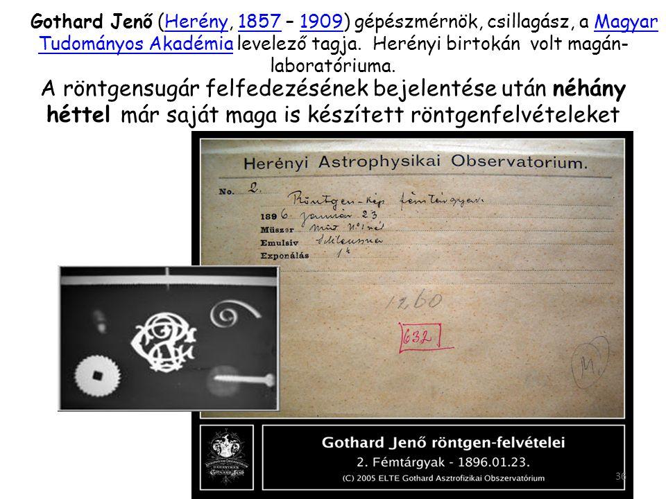 Gothard Jenő (Herény, 1857 – 1909) gépészmérnök, csillagász, a Magyar Tudományos Akadémia levelező tagja. Herényi birtokán volt magán-laboratóriuma.