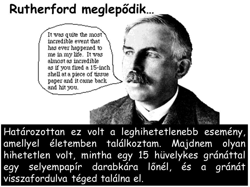 Rutherford meglepődik…