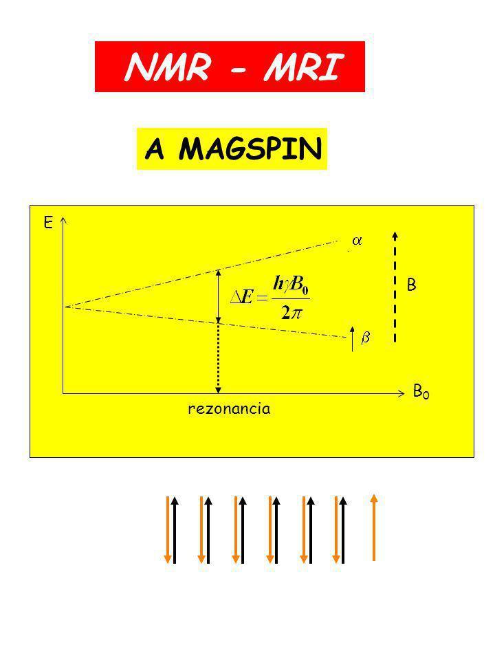 NMR - MRI A MAGSPIN E B0 B rezonancia b a