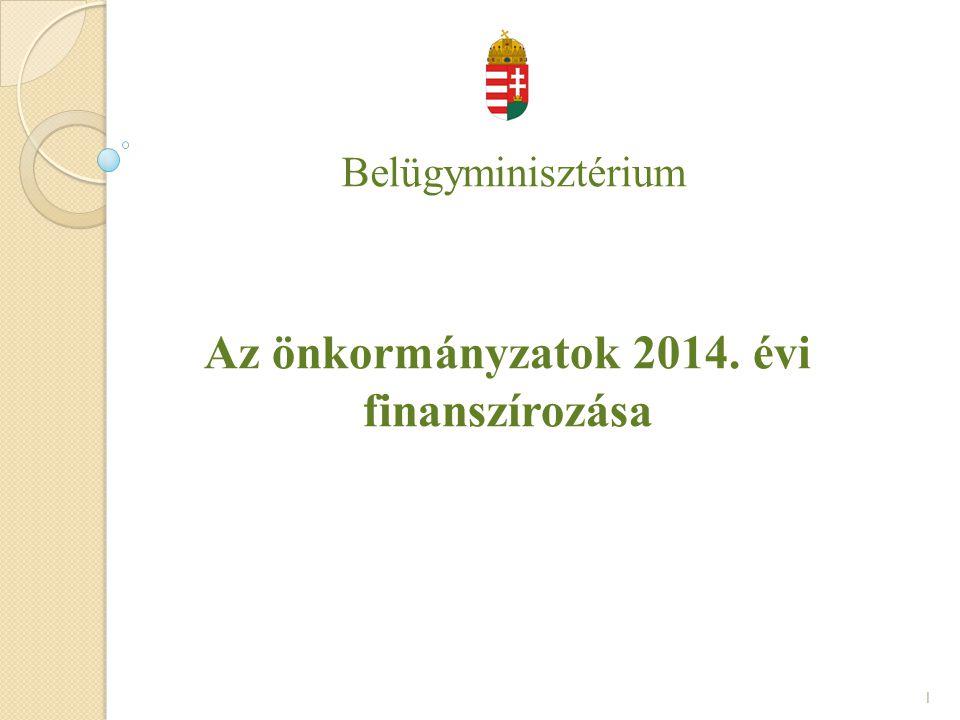 Az önkormányzatok 2014. évi finanszírozása
