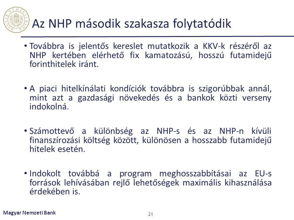 Az NHP második szakasza folytatódik