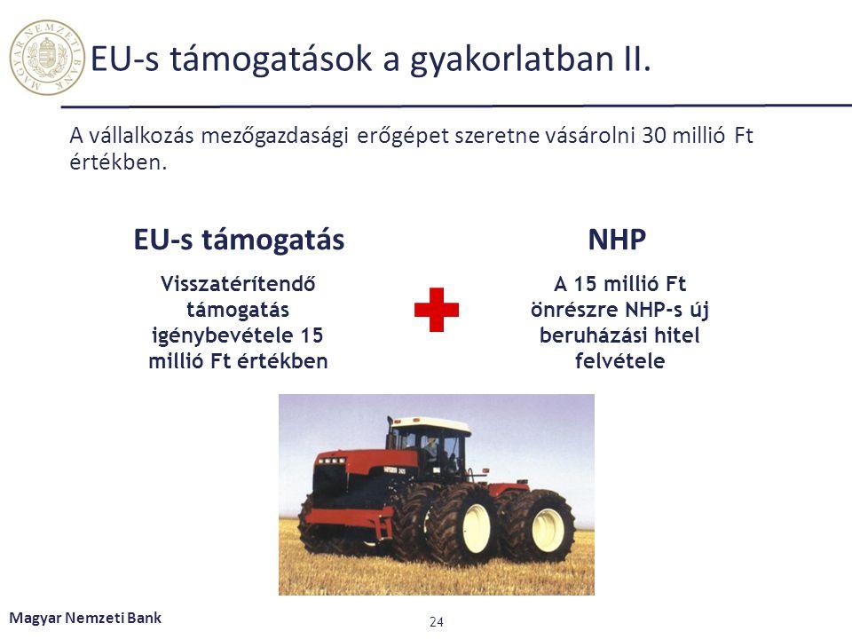 EU-s támogatások a gyakorlatban II.