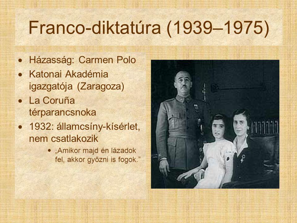 Franco-diktatúra (1939–1975) Házasság: Carmen Polo