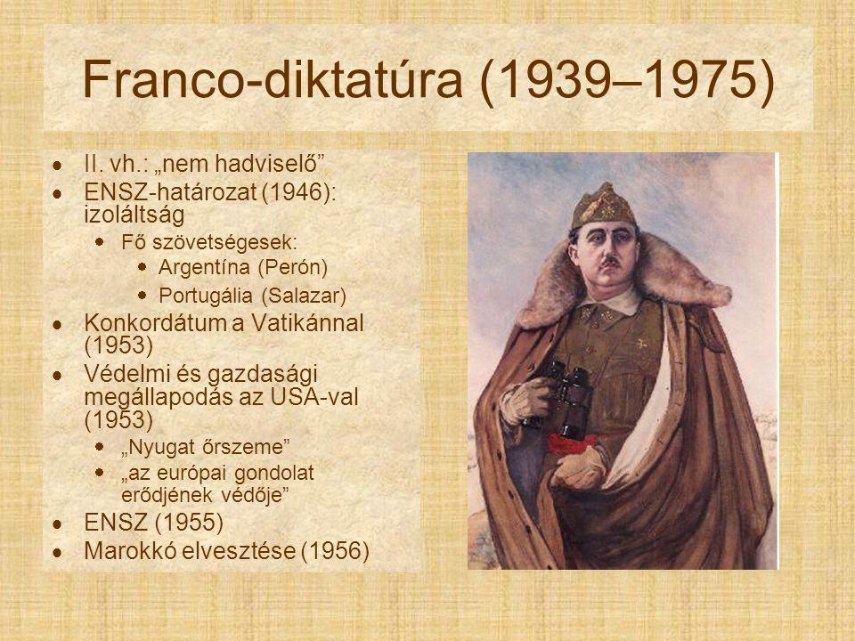 "Franco-diktatúra (1939–1975) II. vh.: ""nem hadviselő"