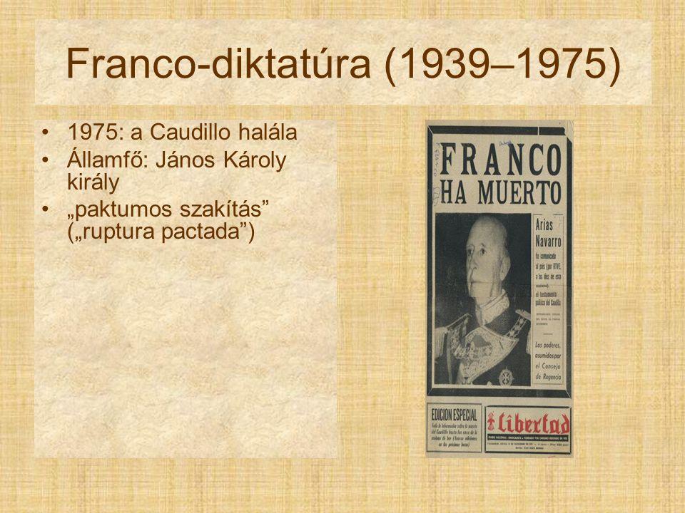 Franco-diktatúra (1939–1975) 1975: a Caudillo halála
