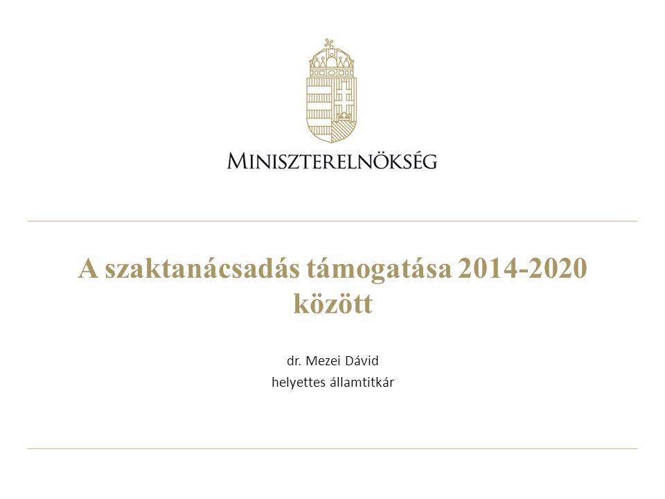 A szaktanácsadás támogatása 2014-2020 között
