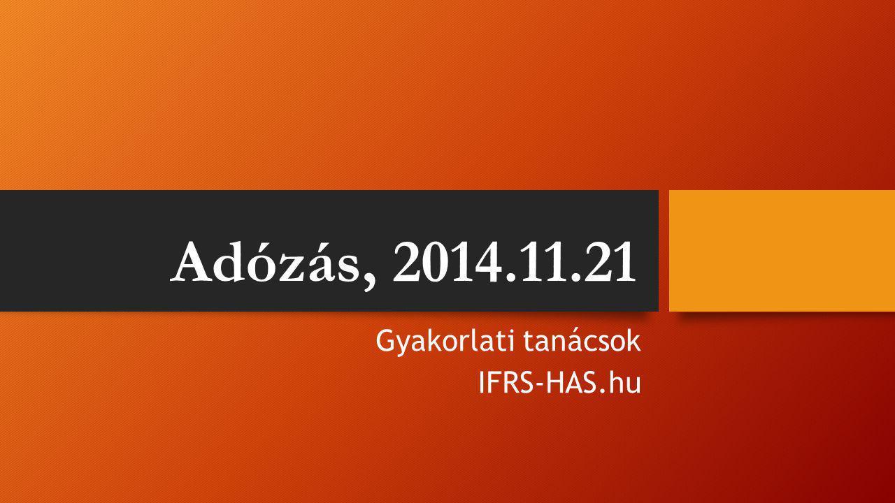 Gyakorlati tanácsok IFRS-HAS.hu