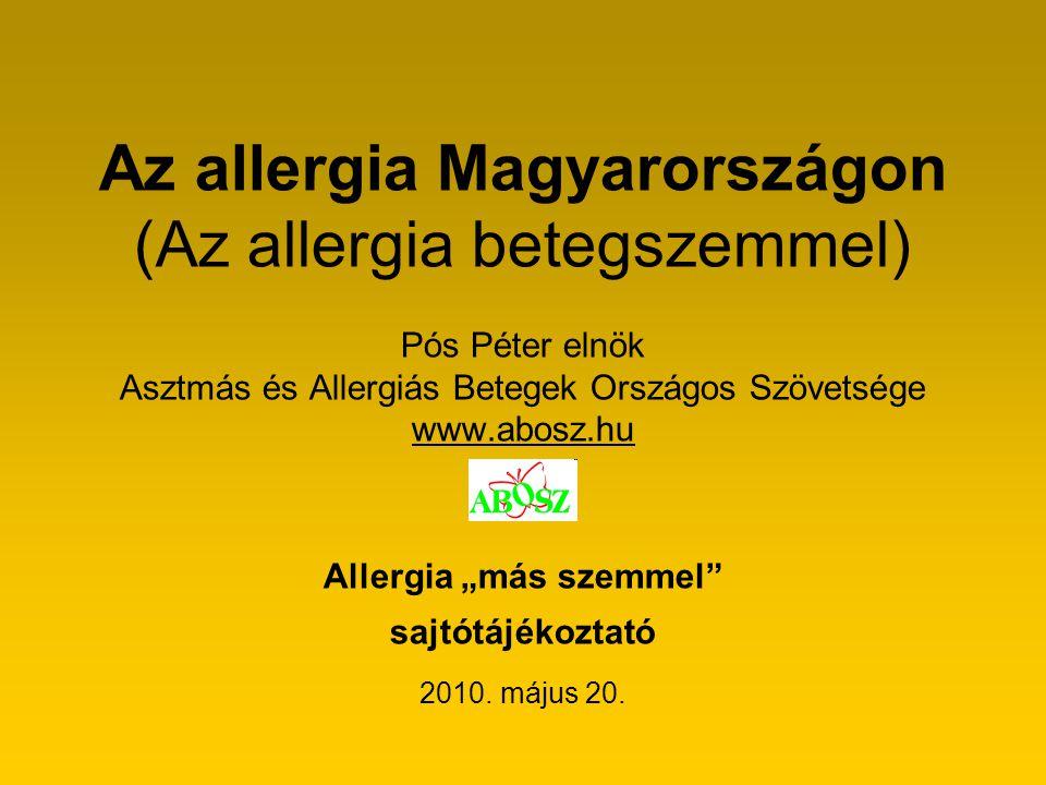 Az allergia Magyarországon (Az allergia betegszemmel)