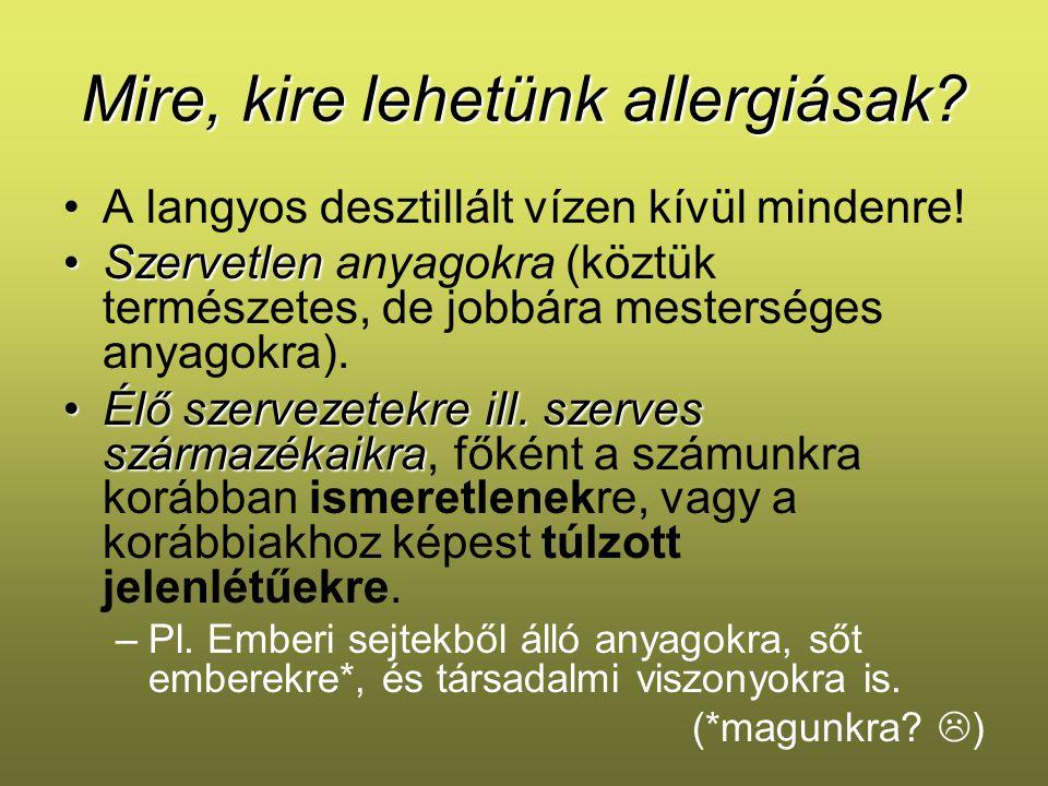 Mire, kire lehetünk allergiásak