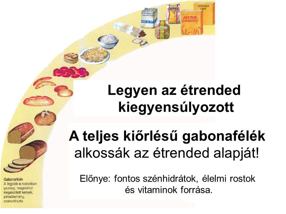 Legyen az étrended kiegyensúlyozott