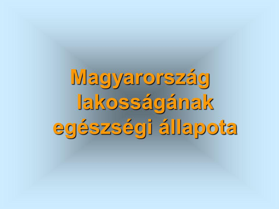 Magyarország lakosságának egészségi állapota