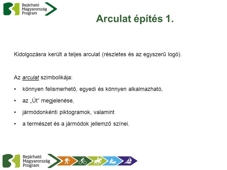 Arculat építés 1. Kidolgozásra került a teljes arculat (részletes és az egyszerű logó). Az arculat szimbolikája: