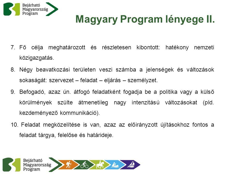 Magyary Program lényege II.