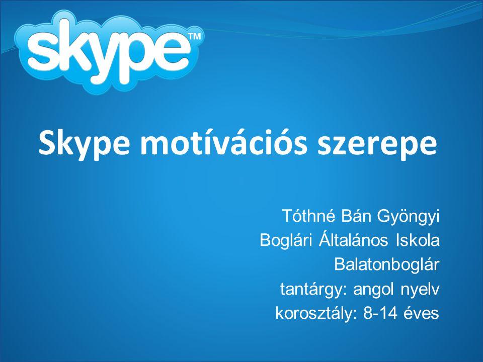 Skype motívációs szerepe