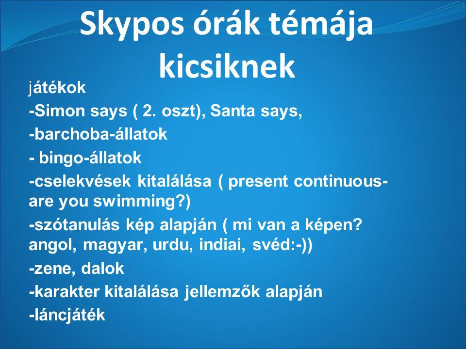 Skypos órák témája kicsiknek