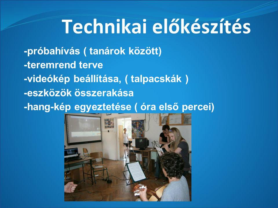 Technikai előkészítés
