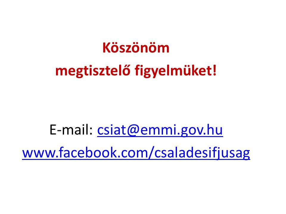 Köszönöm megtisztelő figyelmüket. E-mail: csiat@emmi. gov. hu www