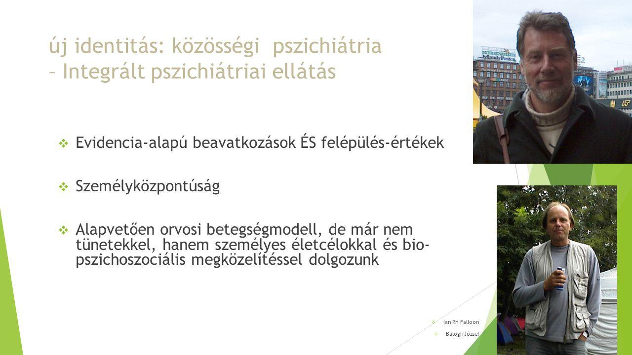 új identitás: közösségi pszichiátria – Integrált pszichiátriai ellátás
