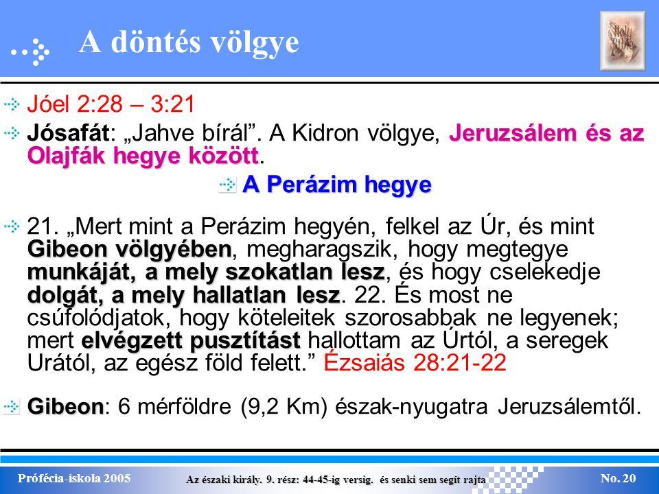 A döntés völgye Jóel 2:28 – 3:21