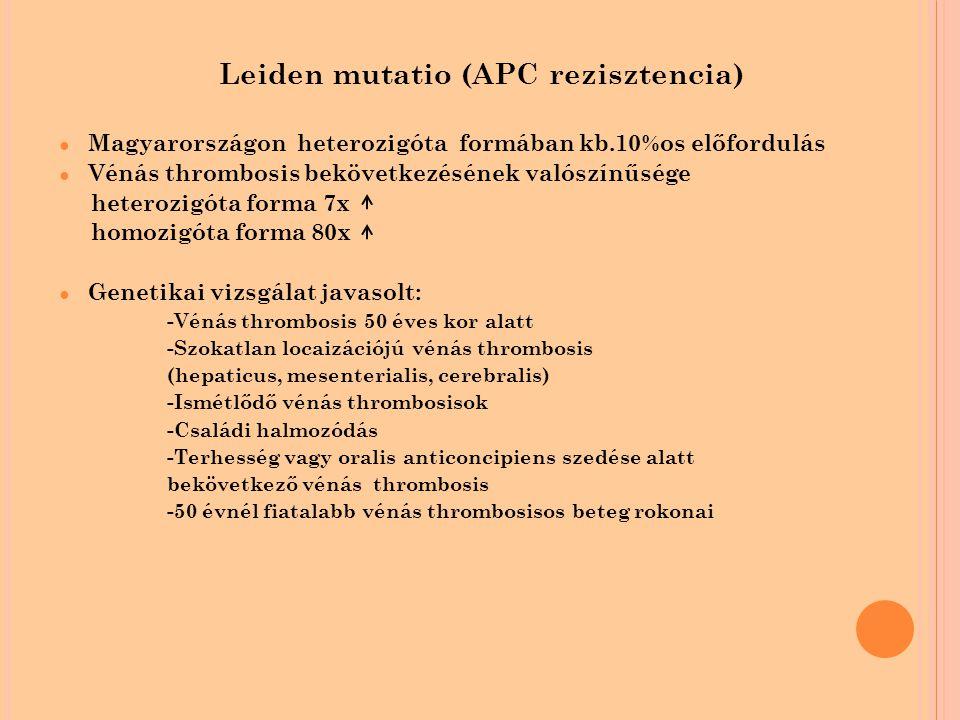 Leiden mutatio (APC rezisztencia)