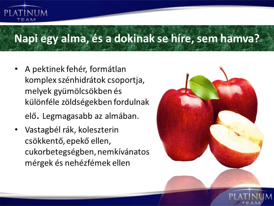 Napi egy alma, és a dokinak se híre, sem hamva