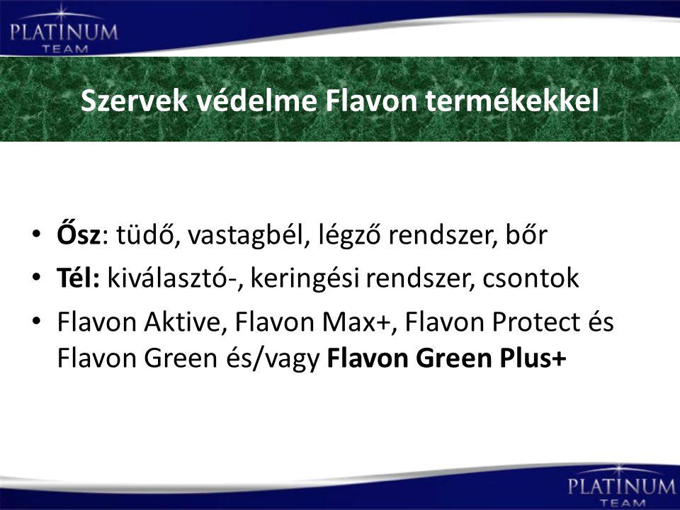 Szervek védelme Flavon termékekkel