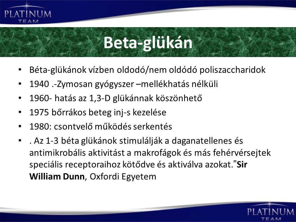 Beta-glükán Béta-glükánok vízben oldodó/nem oldódó poliszaccharidok