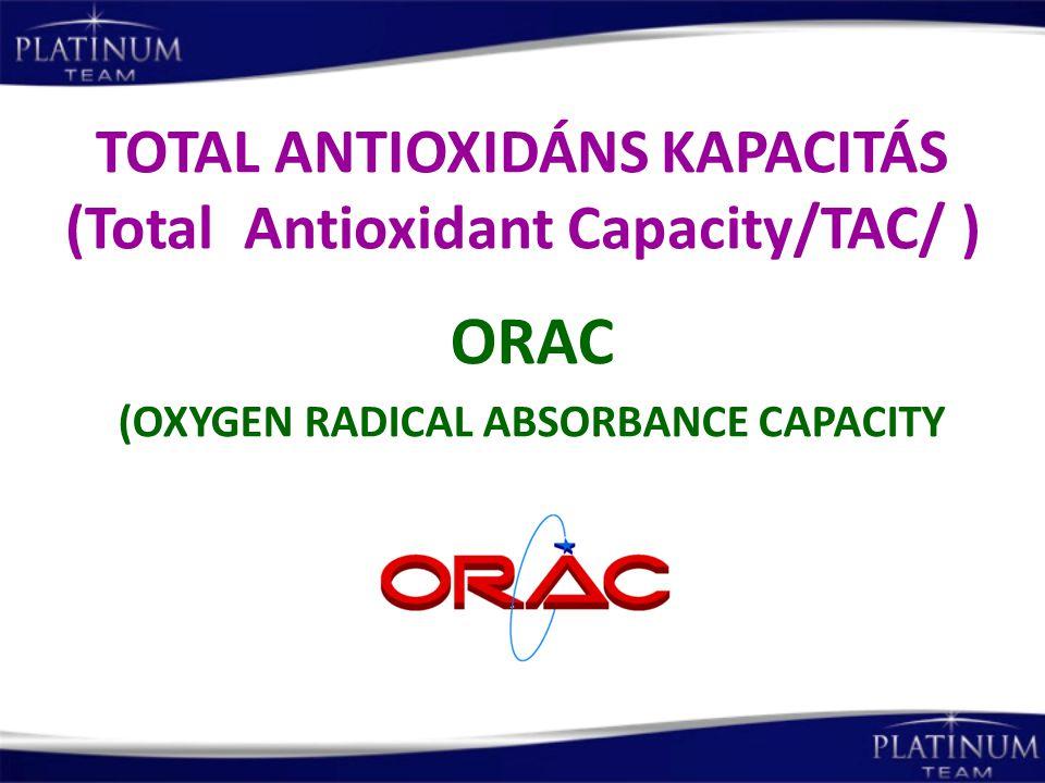 TOTAL ANTIOXIDÁNS KAPACITÁS (Total Antioxidant Capacity/TAC/ )