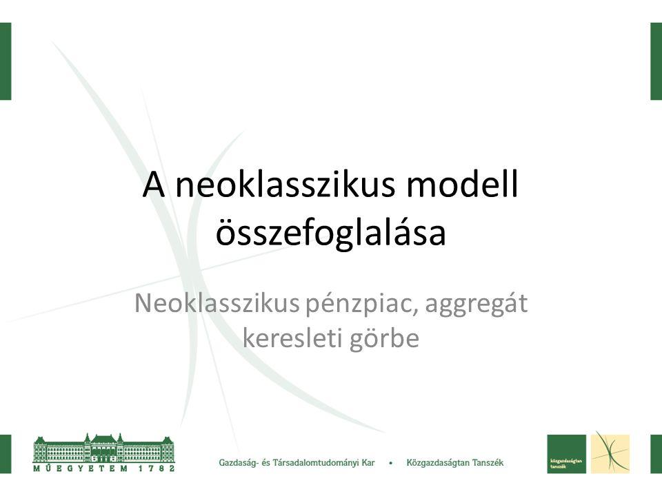 A neoklasszikus modell összefoglalása
