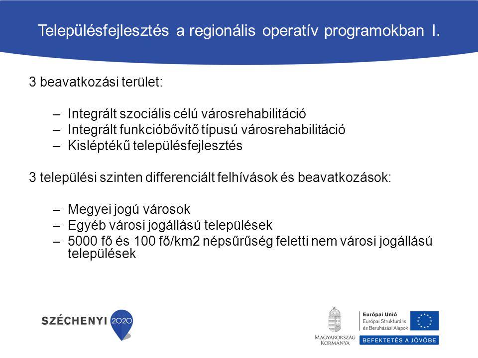 Településfejlesztés a regionális operatív programokban I.