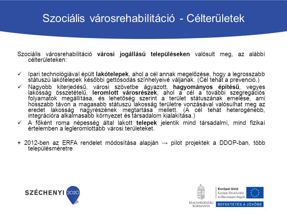 Szociális városrehabilitáció - Célterületek