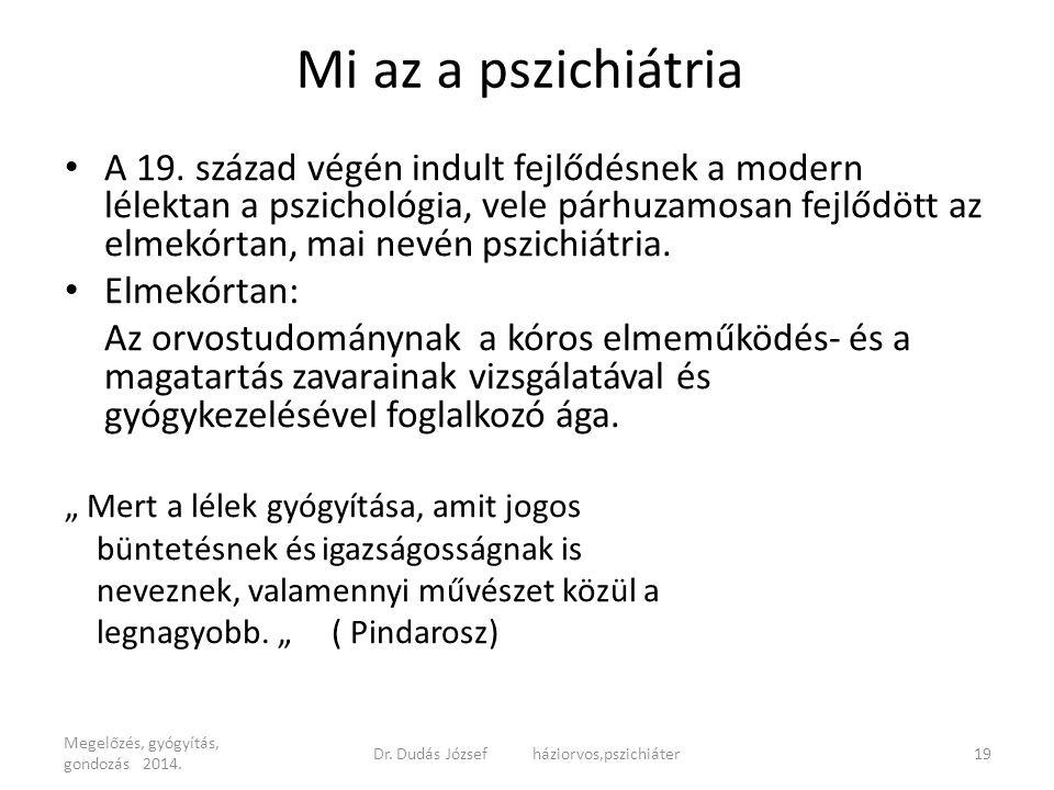 Dr. Dudás József háziorvos,pszichiáter