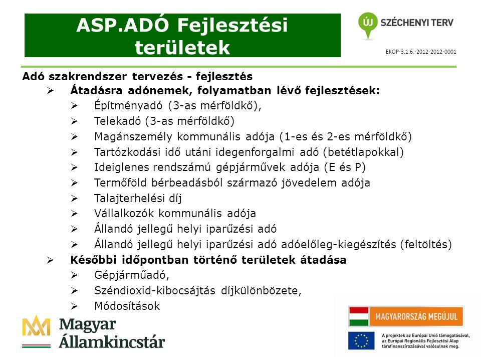 ASP.ADÓ Fejlesztési területek