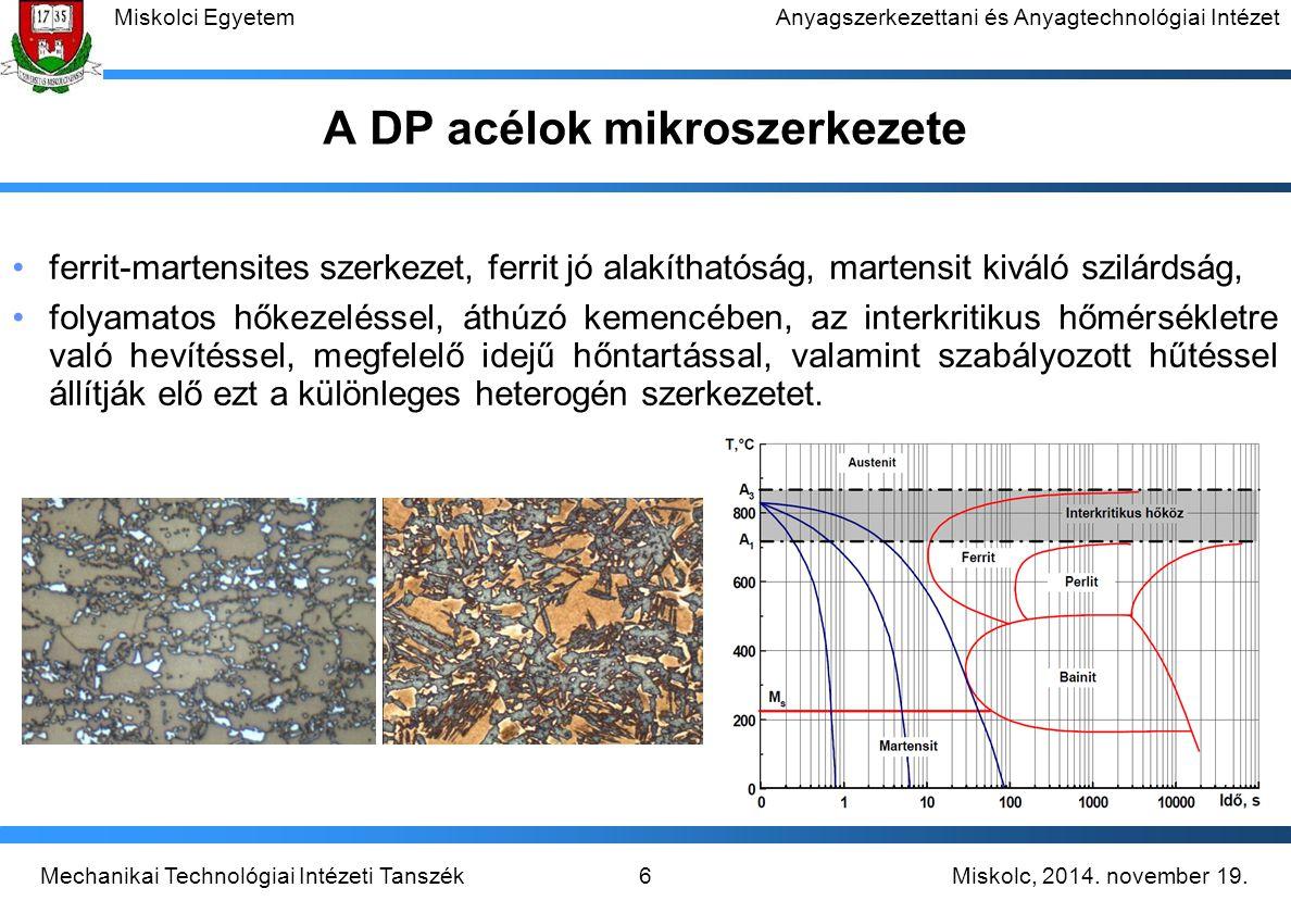 A DP acélok mikroszerkezete