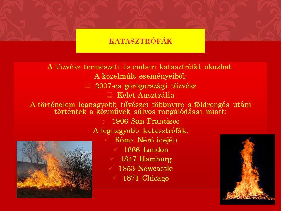 A tűzvész természeti és emberi katasztrófát okozhat.
