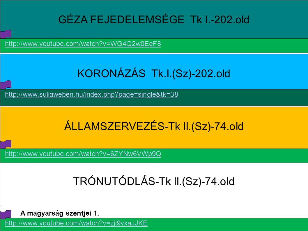 GÉZA FEJEDELEMSÉGE Tk I.-202.old