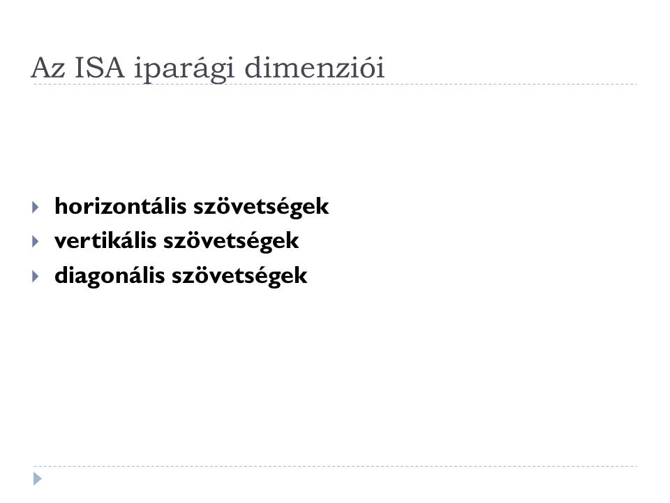 Az ISA iparági dimenziói