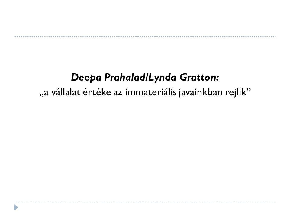 """Deepa Prahalad/Lynda Gratton: """"a vállalat értéke az immateriális javainkban rejlik"""