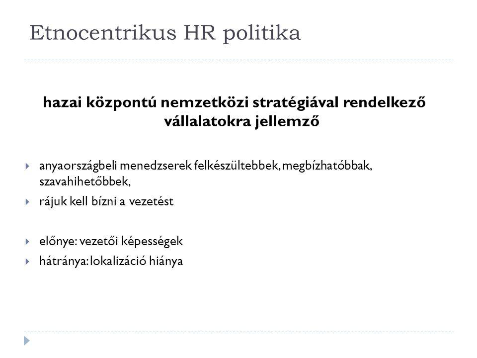 Etnocentrikus HR politika