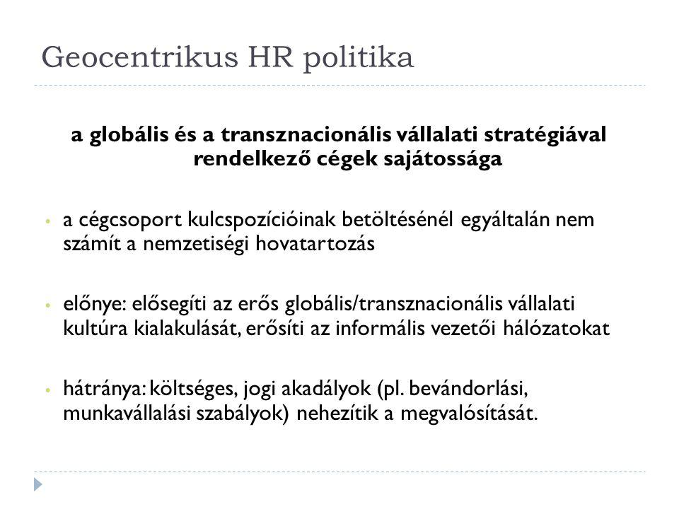 Geocentrikus HR politika