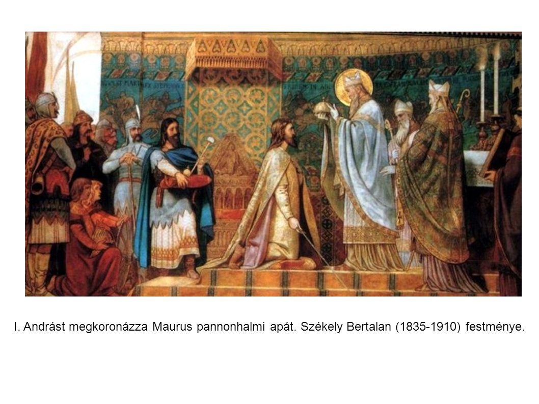 I. Andrást megkoronázza Maurus pannonhalmi apát